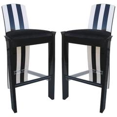 Pair of Memphis Style Barstools