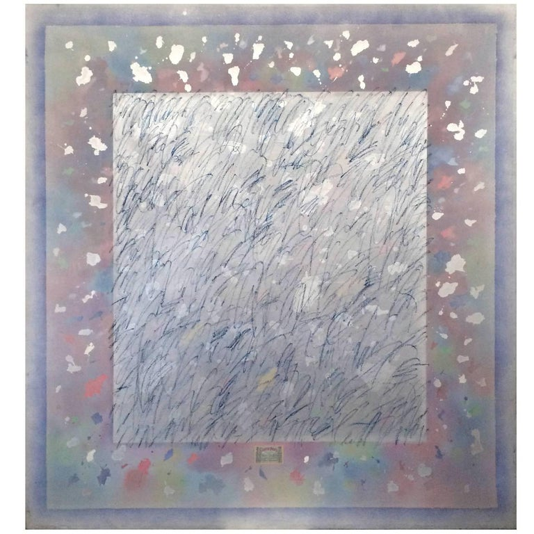 Large Gerald Campell Abstract Expressionist Painting For Sale