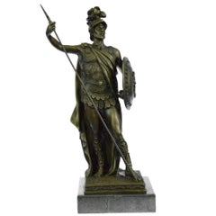 After Drouot, Roman Soldier Bronze Sculpture