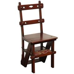 Late 19th Century English Step Chair