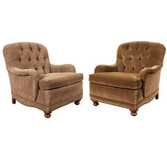 Pair of Beachley Club Chairs in Compatible Upholstery