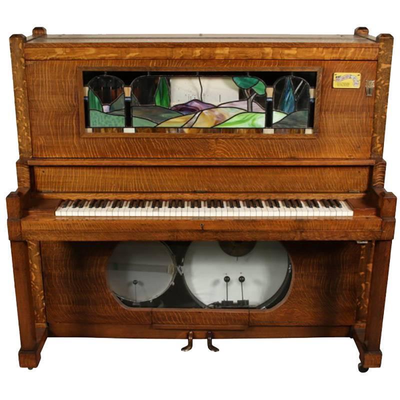Antique Nickelodeon By Stuyvesant Piano Company Ny