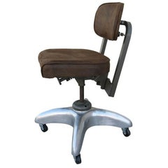 Workshop Industrial French Swivel Chair