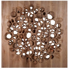 Amorph Loop Wall Panel, Maple Wood, Stained