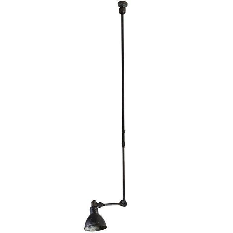 Model No. 302 Adjustable Ceiling Light by Gras Ravel For Sale