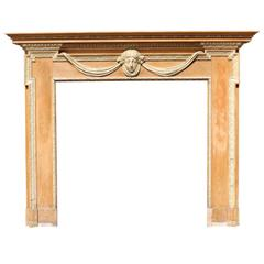 Early 20th Century Adam Style Scottish Pine and Composition Fire Surround
