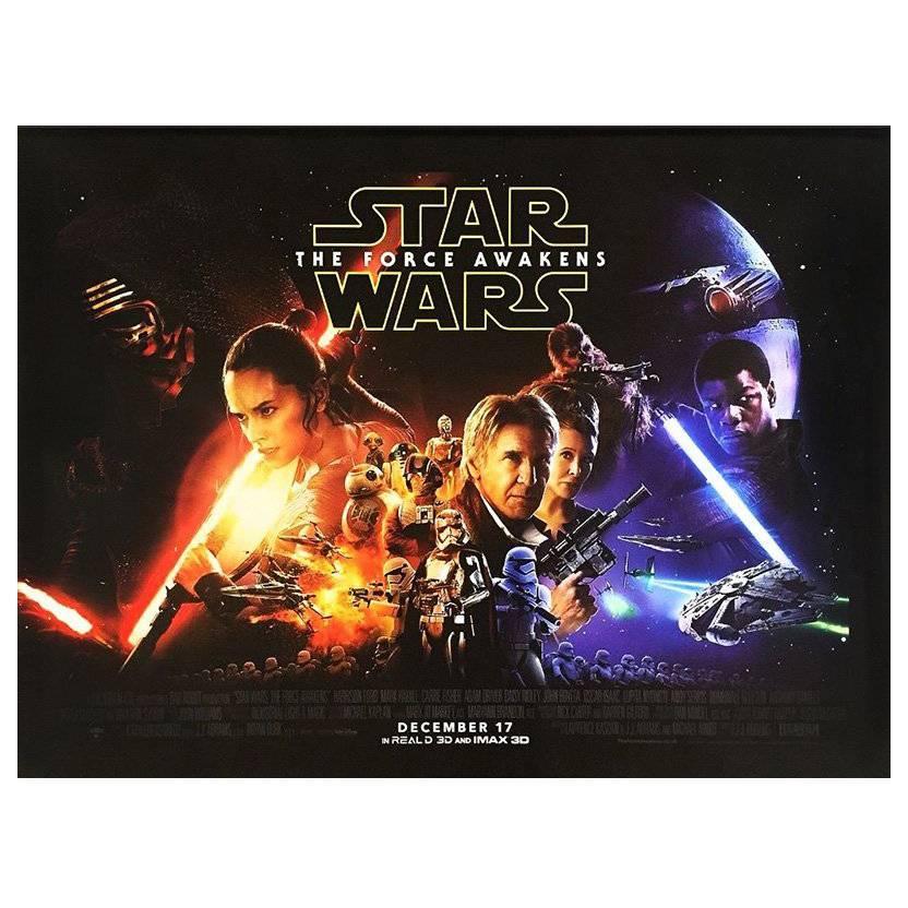 """Star Wars: The Force Awakens"" Film Poster, 2015"