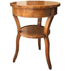 19th Century Neoclassical Biedermeier Table, Figured Walnut