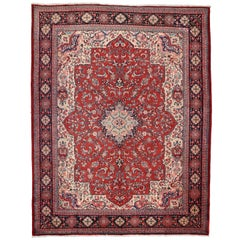 Vintage Persian Mahal Rug with Old World French Victorian Style