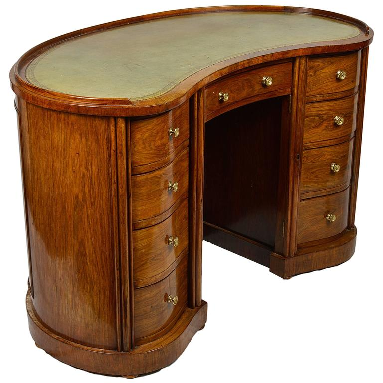 Regency period rosewood kidney desk for sale at 1stdibs for Kidney desk for sale