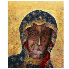"Large Tapestry Icon ""Madonna"" by Beata Rosiak"