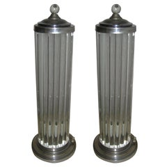 Pair of 1940s, Venini Canister Lamps
