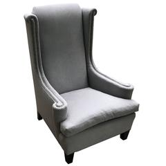 High Back Single Upholstered Side Chair, France, 1920s