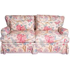 Loveseat in Braquenié Fabric