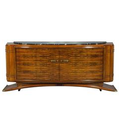 Art Deco Rosewood Sideboard in the Style of Jules Leleu