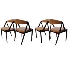 Kai Kristiansen rosewood Dining Chairs, restored and reupholstered.