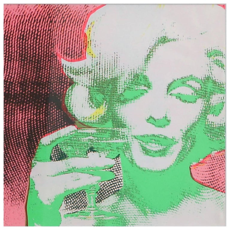 Original 1968 Marilyn Monroe serigraph: 'The Marilyn Monroe Trip - 2' by Burt Stern (1929-2013), after 'The Last Sitting.' Matted and framed in unfinished maple. Serigraph itself is 10 inches by 10 inches inside matting.  Unsigned, as released.