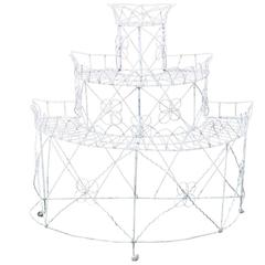 White Decorative Metal Plant Stand