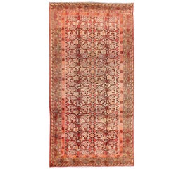 Large Khotan Antique Rug with Pomegranate Design in Taupe, Green, Red and Brown