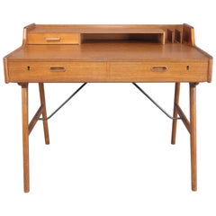 Mid-Century Modern Danish Teak Desk Model No 65 by Arne Wahl Iversen