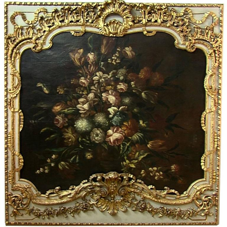 Floral Still Life Painting, France, 18th Century