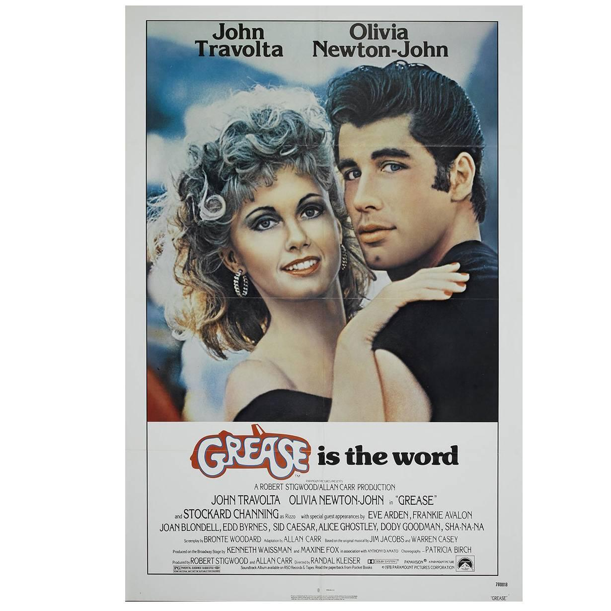 """""""Grease"""" Film Poster, 1978"""