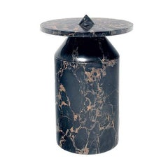 TOTEM Side Table by Karen Chekerdjian, Contemporary Marble Side Table