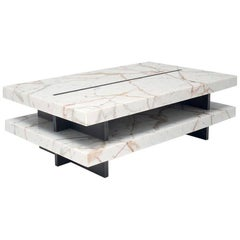 Zip Calacatta Oro Marble Coffee Table