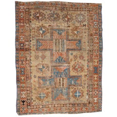 Late 19th Century 'Super Worn' Antique Caucasian Rug