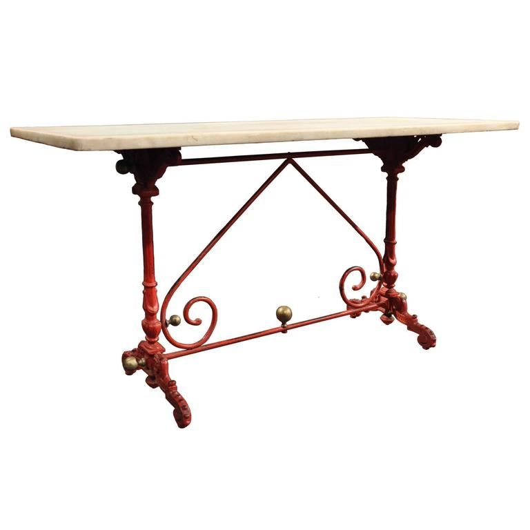 Marvelous Early 19th Century French Painted Pastry Table With Original Marble Top 1