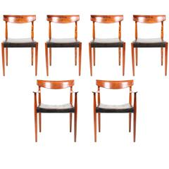Elegant Dining Chairs in Rosewood by Knud Færch