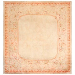 Square Antique French Savonnerie Rug