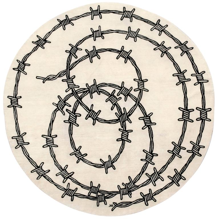 Barbed Wire, Hand-Knotted Rug Designed for Nodus by Studio Job