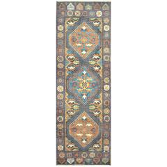 Hand-Knotted Oushak Wide Runner Rug