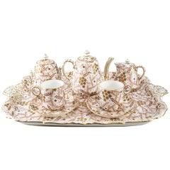 19th Century Porcelain Tete-a-Tete Tea Service by Davenport