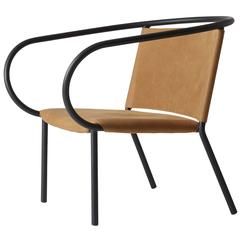 Afteroom Lounge Chair by Afteroom, in Steel with Leather Upholstery