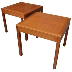 20th Century Pair of Square Coffee Tables by Børge Mogensen
