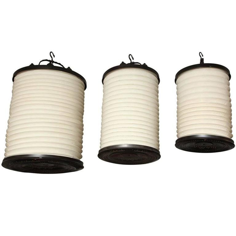 Brass and Cloth Hanging Lanterns