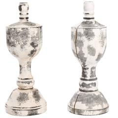 Pair of Carved Finials