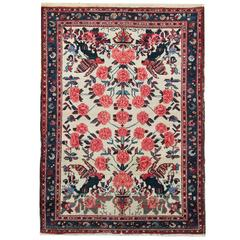 Floral Rug, Antique Rugs Persian Carpet by Afshar