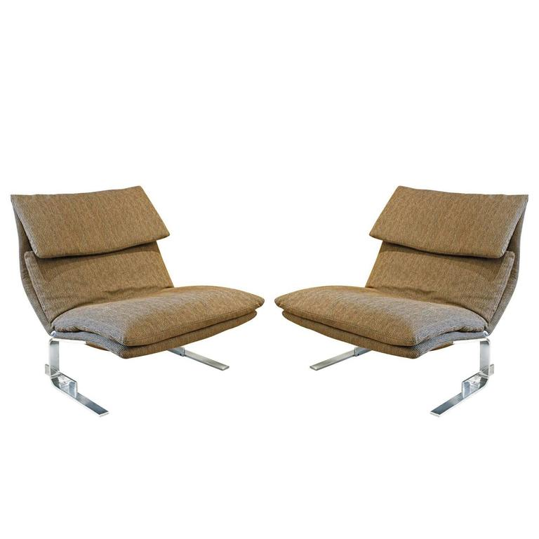 "Saporiti Pair of ""Onda Lounge Chairs"", 1970s"