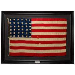 36-Star Civil War-Era American Flag, Presented to Major George Benson Fox
