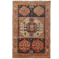 Antique Rugs, Caucasian Carpet from Kazak