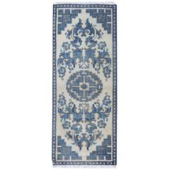 Antique Rugs, Chinese Blue and White Carpet Runners
