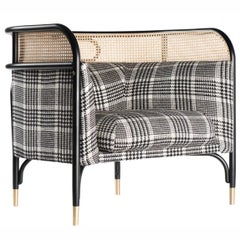 Targa Loungesessel, moderne Loungesessel mit gewebter Schilfrohr Kante