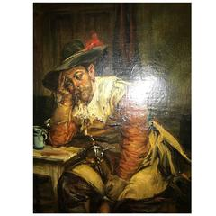 Noble Man in a Tavern Signed P Hermanus