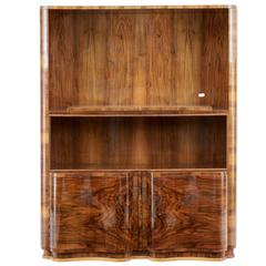 20th Century Walnut Serpentine Cabinet