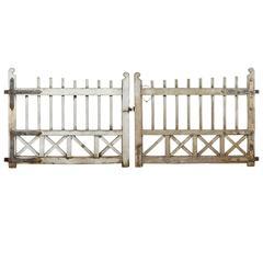 Pair of 19th Century Swedish Oak Gates