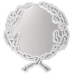 Mirror in White Statuario Marble Large Version Limited Edition of 9