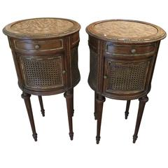 louis xvi style parcelgilt pair of nightstands